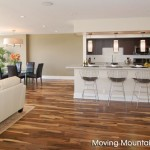 Kitchen and dining area of Century City Los Angeles home staging