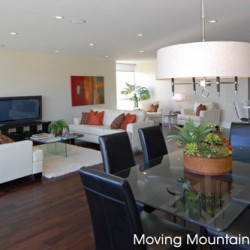 Century City Contemporary Condo Staging Open Floorplan