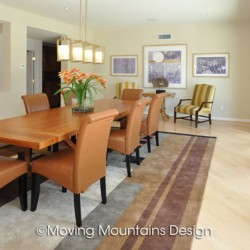 San Dimas Contemporary Home Staging Dining Room