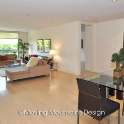 West Hollywood Contemporary Home Staging Open Floorplan