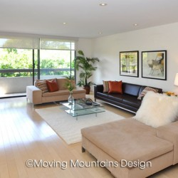 West Hollywood Contemporary Home Staging Livingroom