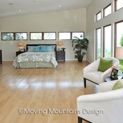 San Dimas Contemporary Home Staging Master Bedroom
