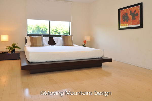 West hollywood contemporary home staging master bedroom moving mountains design los angeles Master bedroom home staging
