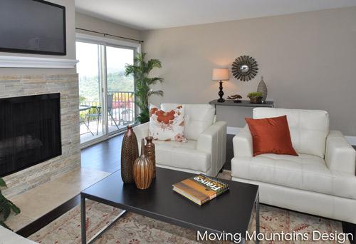 Bel Air Los Angeles house staging livingroom