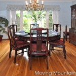 Traditional Chinese dining table in luxury Arcadia home after staging