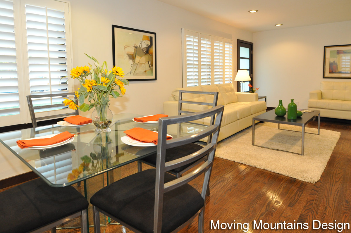 Contemporary Dining Room Pasadena Home Staging