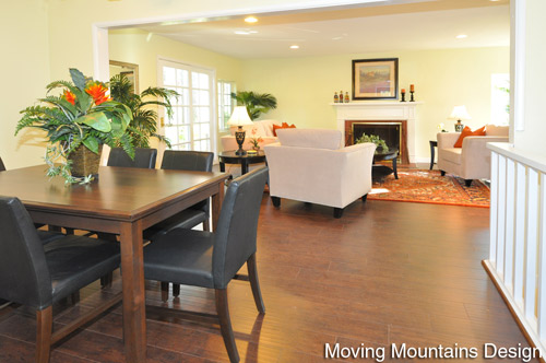 Altadena Real Estate Staging Living Room and Dining Room by Pasadena Home Stagers