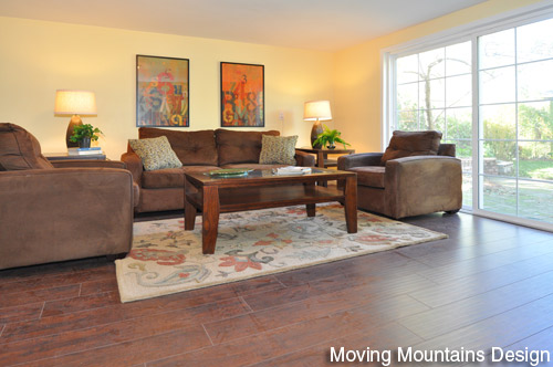 Altadena Real Estate Staging Family Room by Pasadena Property Stagers