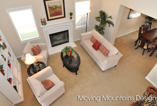 Rosemead Real Estate Staging Living Room Overlook