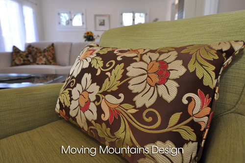 Pasadena Home Staging With Beautiful Silk Throw Pillows