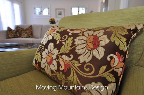 Pasadena Home Staging With Beautiful Silk Throw Pillows