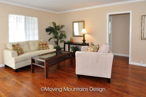 Whittier home staging for Real Estate Investors Living Room