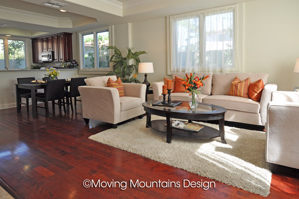 Model Home Living Room model home staging los angeles livingroom - moving mountains