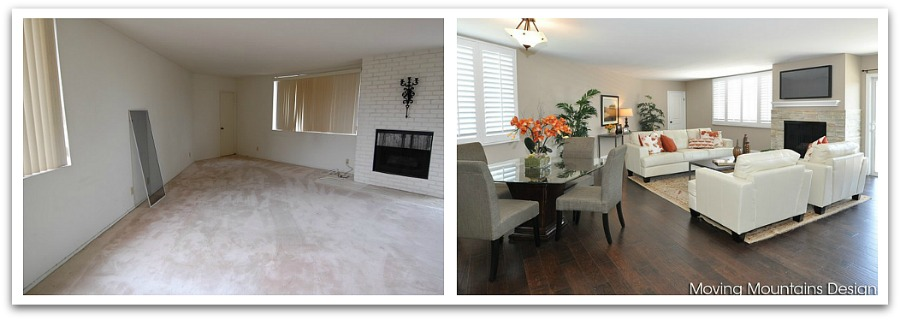Before and after home staging photos for Home staging before and after
