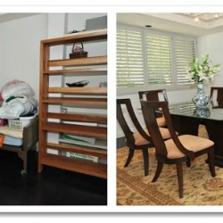 Pasadena condo before and after home staging photos