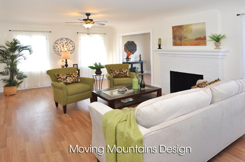 Living room Altadena home staging