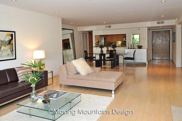 Contemporary Los Angeles Condo Home Staging Open Floor