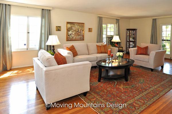 Livingroom Pasadena after Home StagingLivingroom Pasadena after Home Staging   Moving Mountains Design  . Living Room Staging. Home Design Ideas