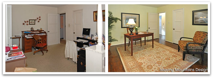 Pasadena Home Staging Office Before And After Photo