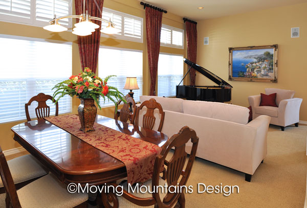 Altadena dining room and living room after home staging