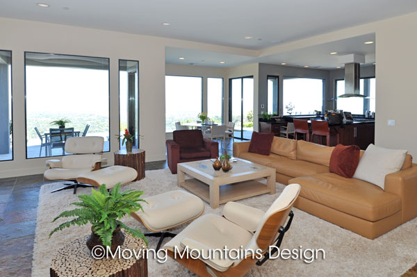 Contemporary home staging moving mountains design los for The family room san marino