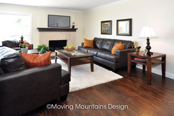 Family room Home Staging in San Clemente