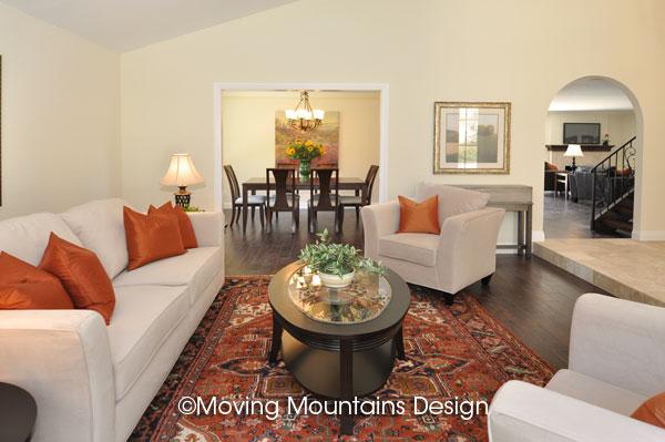 Livingroom Home Staging in San Clemente