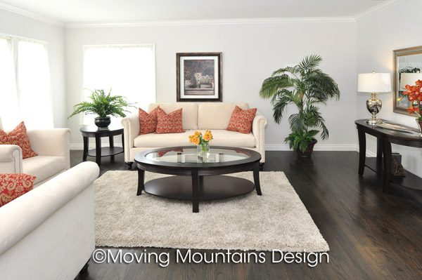 Living Room Los Angeles Home Staging in Van Nuys - Moving ...