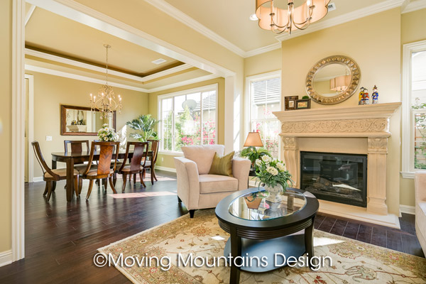 Arcadia New Home Staging Living Room