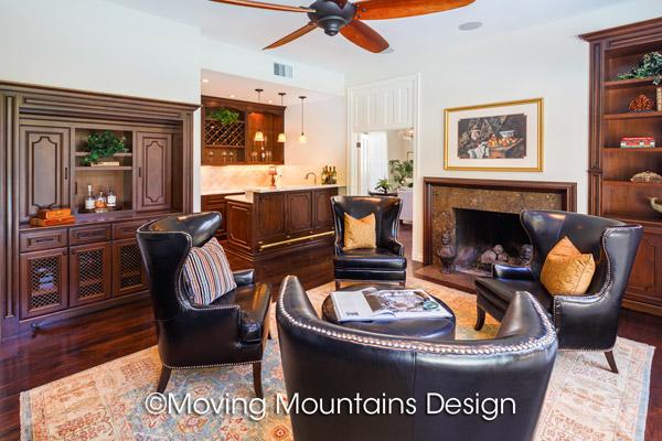 Home Staging Beverly Hills Gentleman's Den