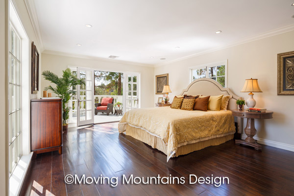 Luxurious master bedroom home staging in beverly hills moving mountains design los angeles Master bedroom home staging