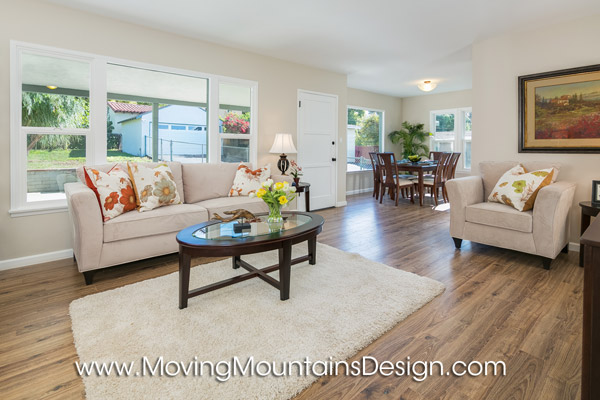 Home staging Altadena living room