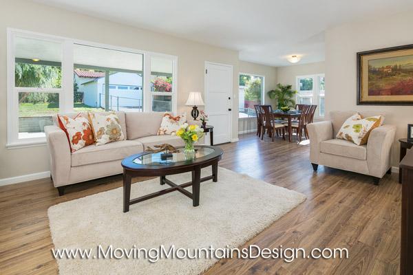 Home staging Altadena living room