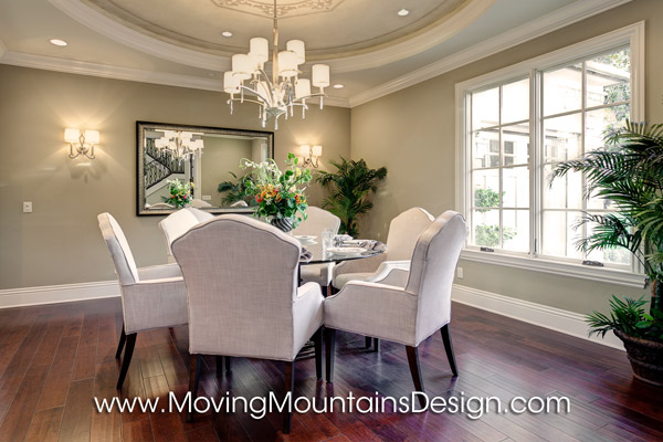 Model Home Dining Rooms luxury dining room model home staging in arcadia - moving