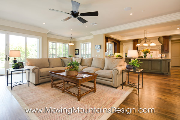 Family Room in Luxury Home Staging in Arcadia