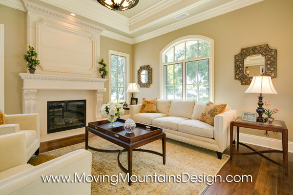 Arcadia Luxury Builder Home Staging Living Room