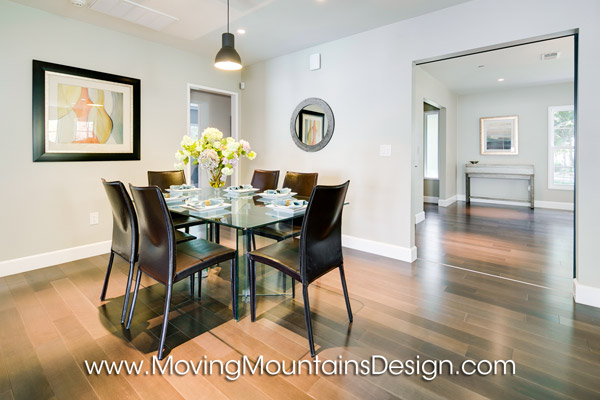 San Marino Contemporary Home Staging Dining Room