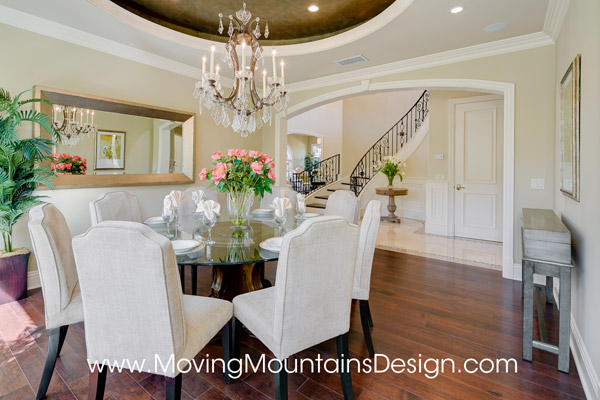 Beautiful Arcadia home staging dining room