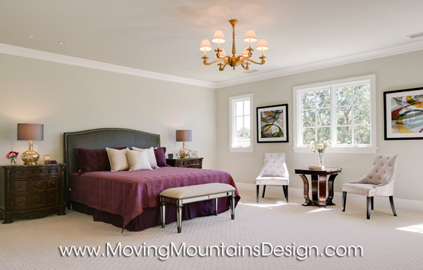 Beautiful Master Bedroom home staging