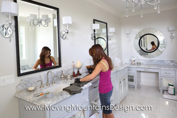 Luxury Bathroom Staging