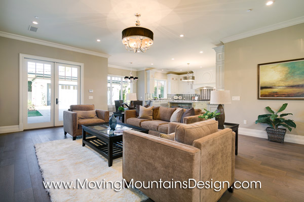 Contemporary Luxury Home Staging Arcadia Family Room