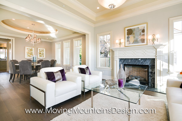 Contemporary Luxury Living Room Home Staging Arcadia