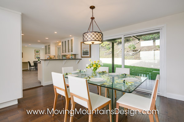 Contemporary Los Angeles Home Staging Dining Room and Kitchen