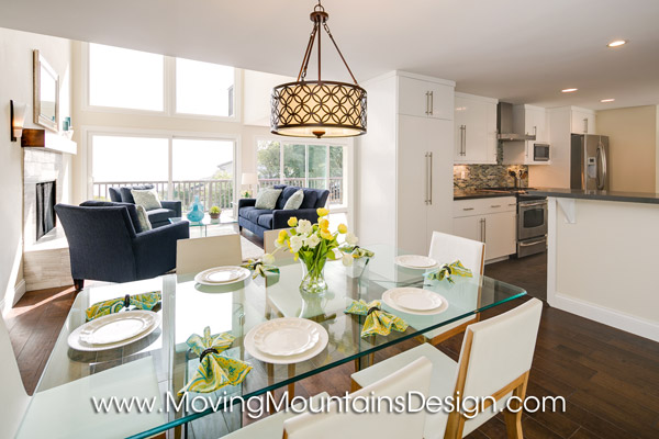 Contemporary Home Staging Los Angeles Dining Room