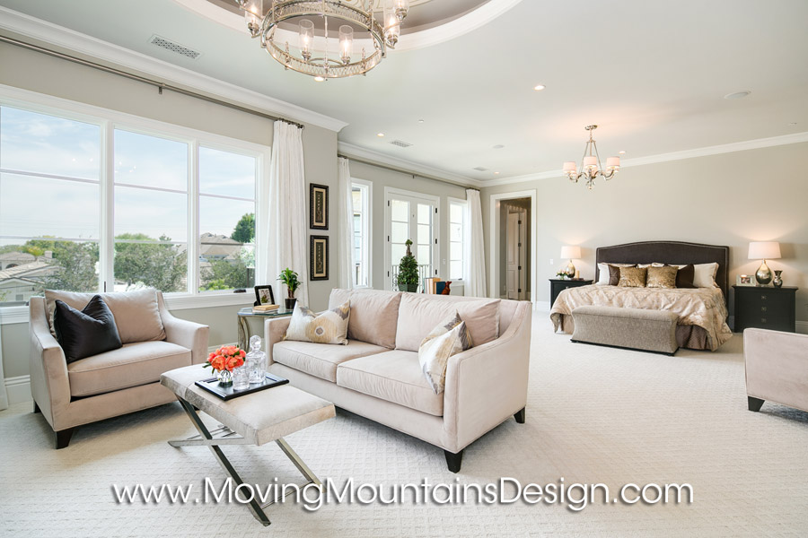 Luxurious Master Bedroom Home Staging in Arcadia, CA