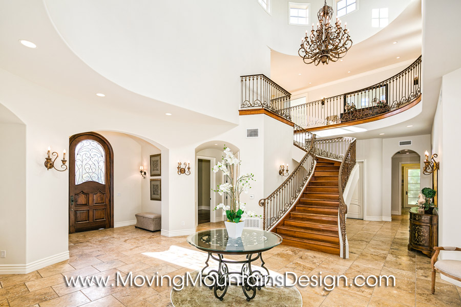 Valencia luxury home staging entry