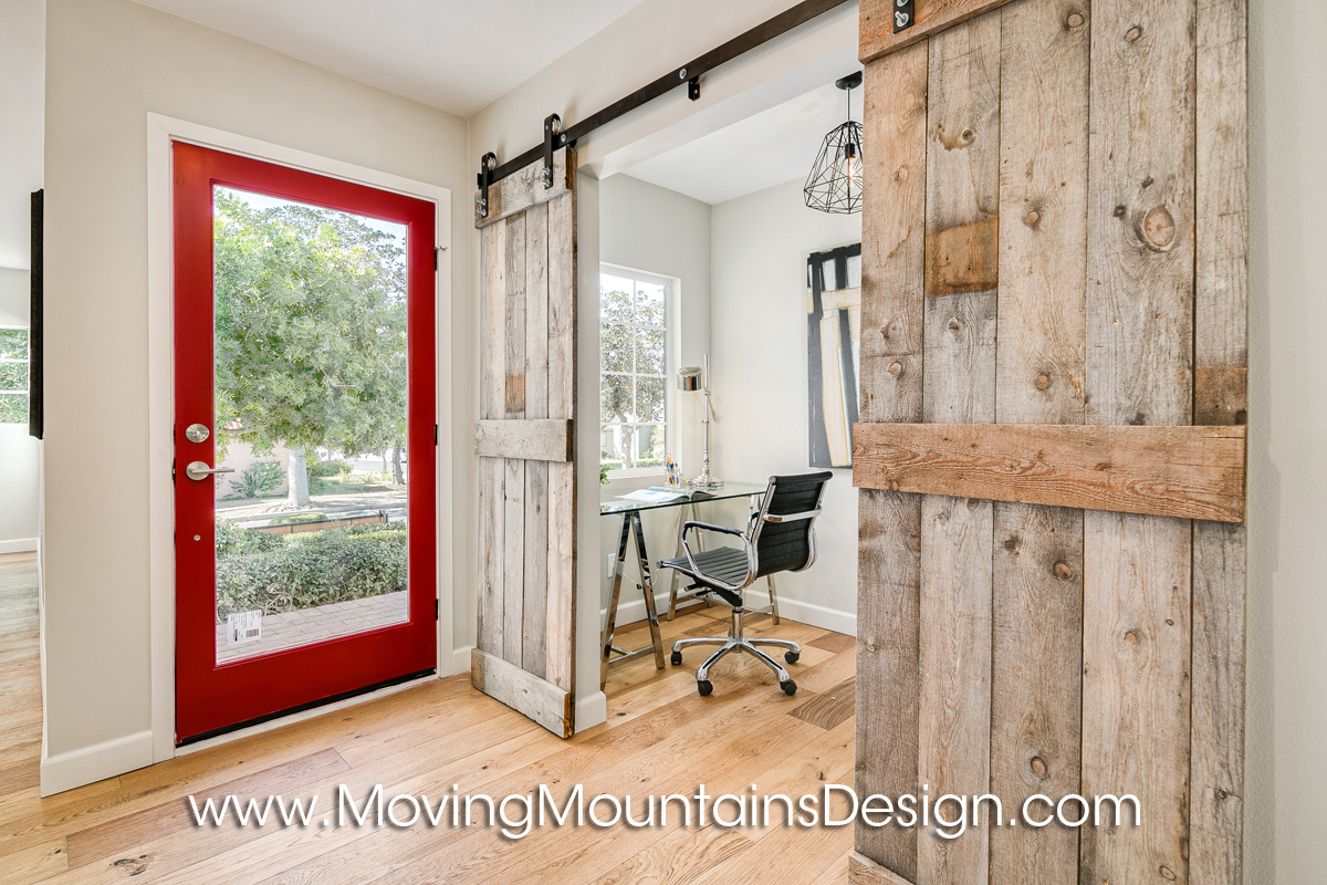 Los angeles home staging photos and information for Barn doors for home office