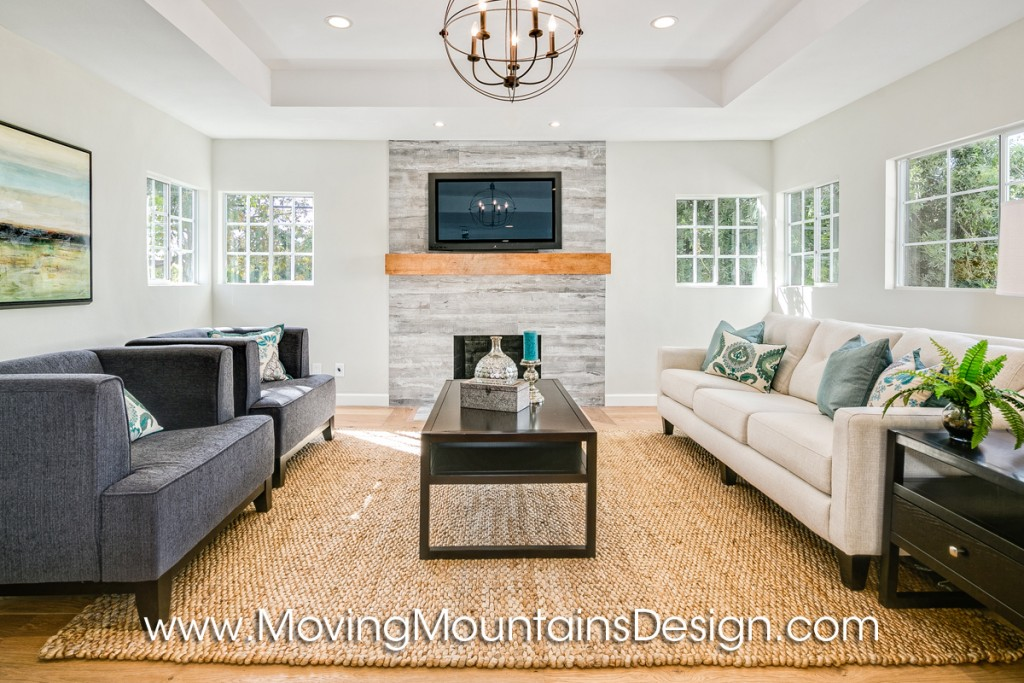 Los Angeles home staging contemporary living room