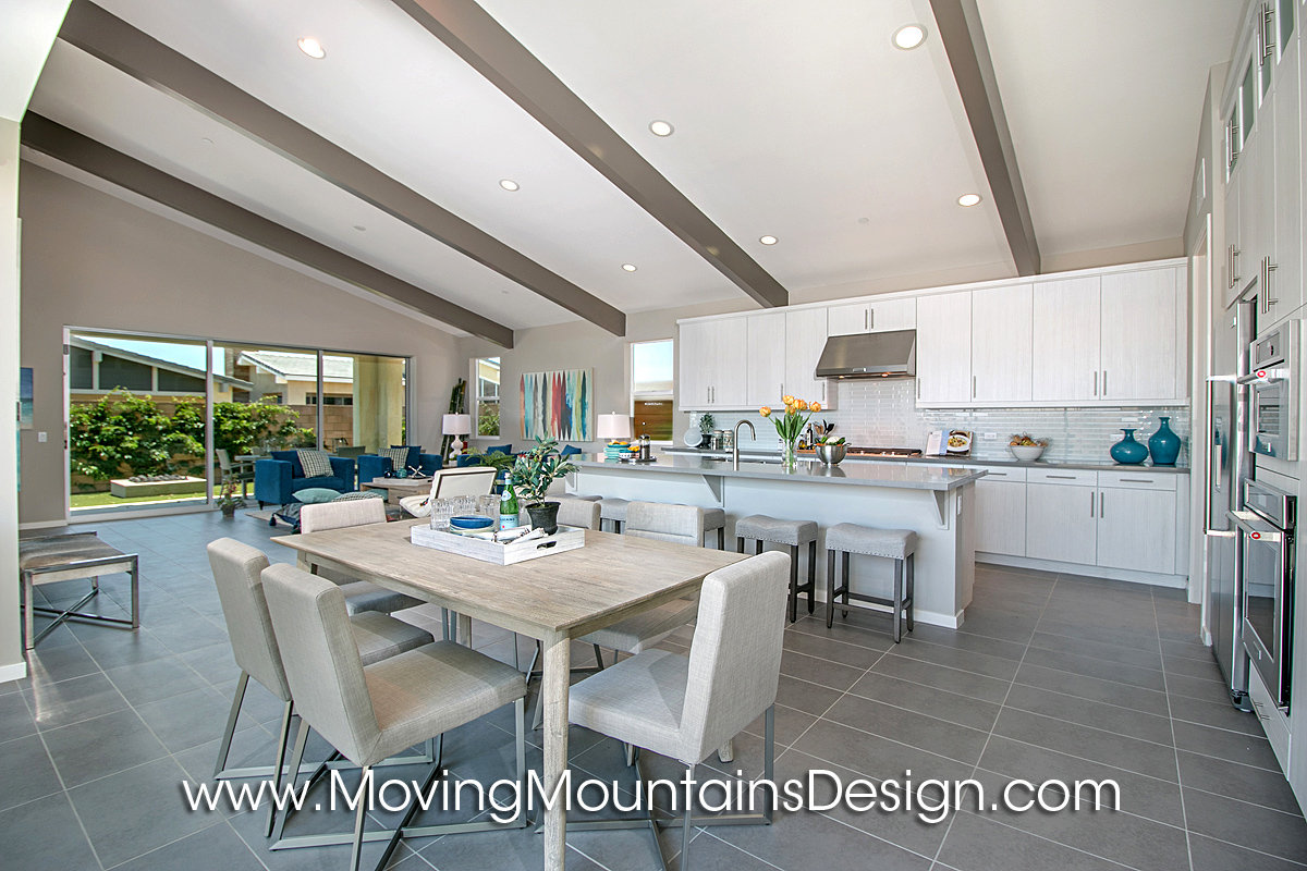 Model Home Dining Rooms open concept model home dining room - moving mountains design