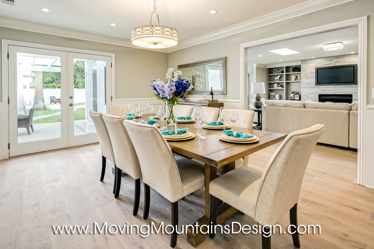 dining room home staging in arcadia - Home Staged Designs